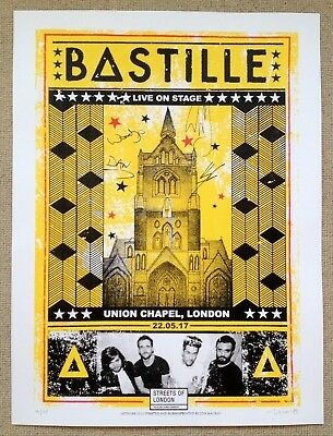 BASTILLE Signed limited edition screen-print - Streets of London charity auction