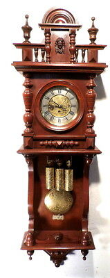 Gustav Becker 8 Day 3 Weight Embossed Dial/Weights/Pendulum Grand Sonnerie Clock