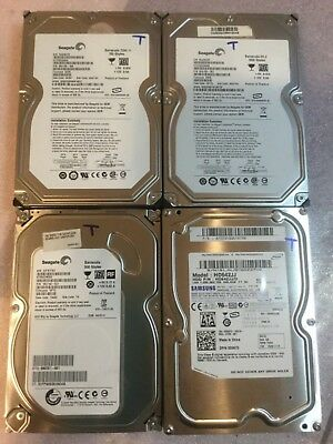 "LOT of 4 Seagate/Samsung  SATA 3.5"" desktop hard drives,500gb,640gb,750gb,1000gb"