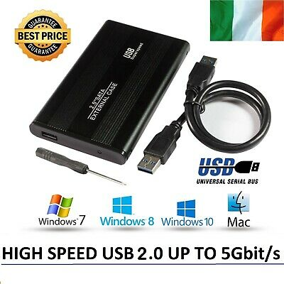 "SATA USB 2.5"" Inch HDD External Hard Drive Enclosure Case for PC Laptop USB 2.0"