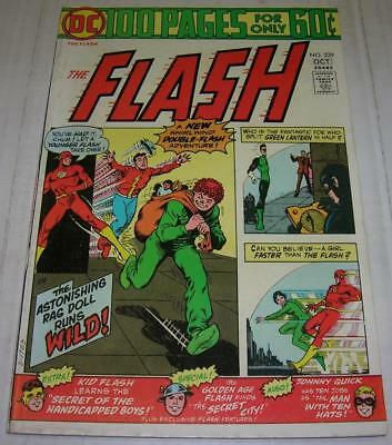 FLASH #229 (DC Comics 1974) 100 PAGE ISSUE (FN) GOLDEN AGE FLASH appearance
