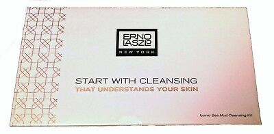 Erno Laszlo Sea Mud Cleansing Kit 3Pc Cleansing Bar Lotion Oil Travel Mini