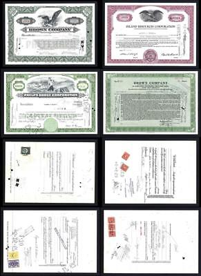 Lot of 4 Stock Certificates issued between 1941 and 1966 - Lot # 601