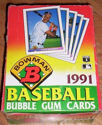 1991 Bowman Baseball Box - 36 Unopened Chipper / Thome RC? Hall of Famers