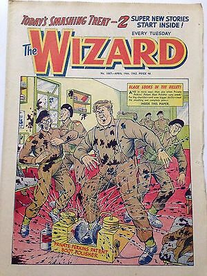DC Thompson. THE WIZARD Comic April 14th 1962. Issue 1887 **FREE UK POSTAGE**