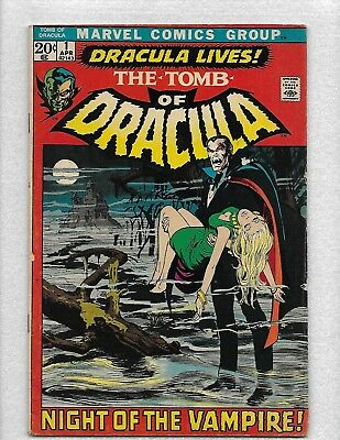 Marvel Comics~The Tomb Of Dracula #1-1972*very-Good+ Condition*nice~Look-Wow!!