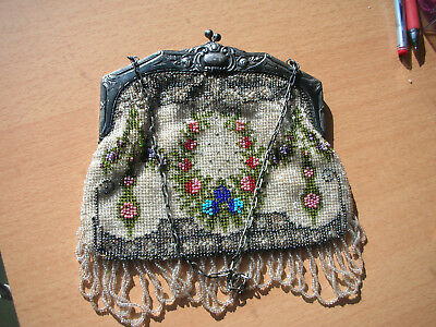 alte jugendstil Perlentasche  beaded purse
