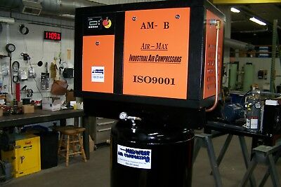 Air-Max 7.5 hp AMB-7STM80V (NEW) Industrial Rotary Screw Compressor 80 vertical
