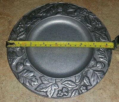 "Longaberger 2001 falling leaves 8"" pewter plate"