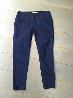 New Look Blue Maternity Skinny Jeans Jeggings Under Bump Size 14