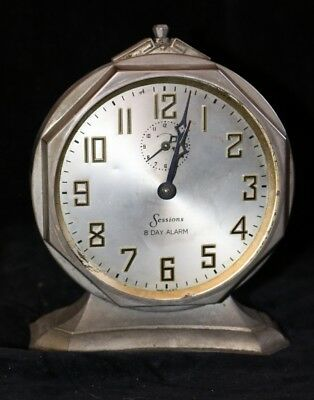 Antique Sessions- 8 Day Alarm Clock- Early 1900's