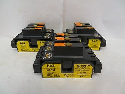 Cooper Buss Bc6033B Fuse Holder 30A 600V Bussmann W/ Fuses Sami71 Cover Lot Of 3