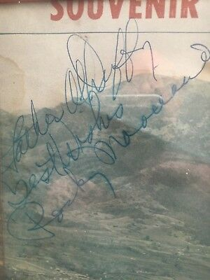 Rocky Marciano autograph . Signed inscribed program cover page.
