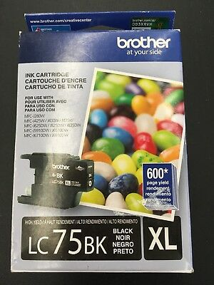 GENUINE BROTHER LC75BK XL Sealed Retail Condition New Exp 02/2017