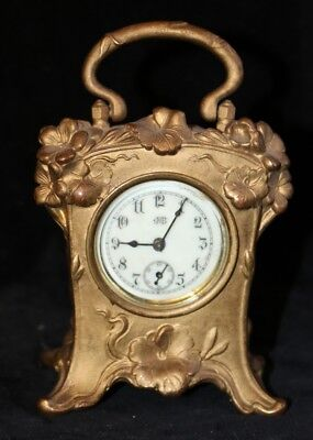 Art Nouveau Clock with Porcelain Dial- Jenning Brothers 1890's- Elegant!!