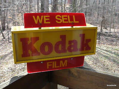 Vintage WE SELL KODAK FILM electric store display  sign - FREE SHIPPING  L@@K