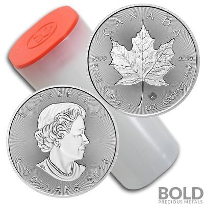 2018 Silver 1 oz Canada Maple Leaf Incuse (25 Coins)