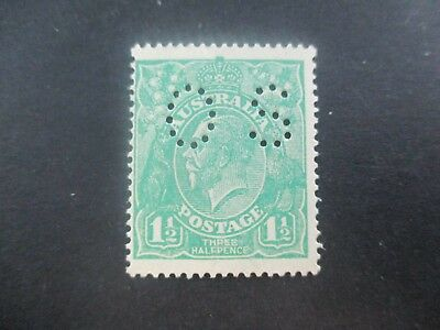 KGV Stamps: 1.5d Green Perf OS Mint - Great Item  (a123)
