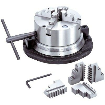 "8"" 4-Jaw Self-Centering Rotary Chuck (3900-2418) - Made In Taiwan"