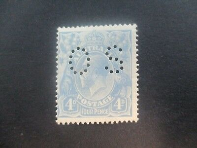 KGV Stamps: 4d Blue Perf OS MNH - Great Item  (a131)