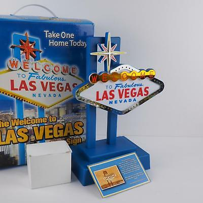 Welcome To Fabulous Las Vegas Blinking Light-Up Sign - Excellent Condition