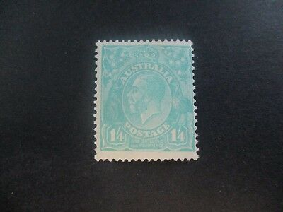 KGV Stamps: 1'4 Turquoise C of A Watermark Mint - great item  (a141)