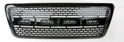 Ford F150 2004-2008 Raptor Style Sport Mesh Gloss Black Front Hood Bumper Grill