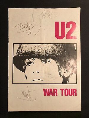 "U2 ""War"" program Fully Signed on 3/11/83 Cardiff Wales"