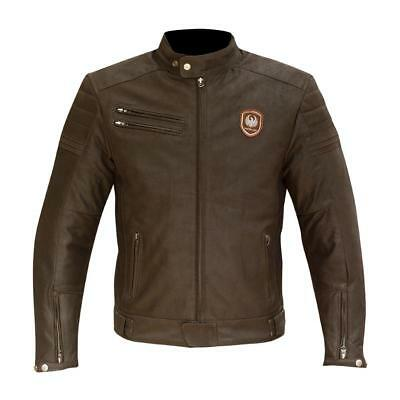 Merlin Alton leather jacket matt brown mens motorcycle urban casual cafe racer
