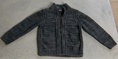 Esprit Cotton Knit Boys  Zip Front Cardigan Sz 3 - 4