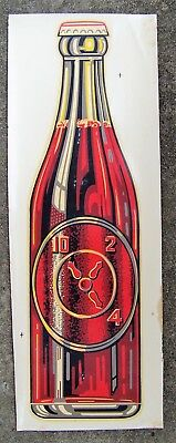 Dr Pepper advertising sign window decal 1940s vintage Houston Texas clock bottle