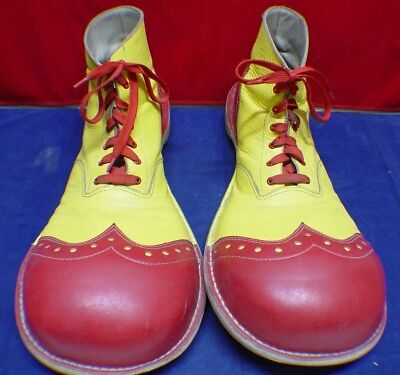 Vintage Handmade Leather Ringling Bros. And Barnum & Bailey Circus Clown Shoes