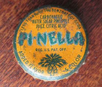Vintage PI-NELLA Orange Soda Cork Bottle Cap, South Carolina Tax