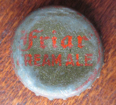 Vintage FRIAR Cream Ale Beer Cork Bottle Cap, Abner Drury Brewing, Washington DC