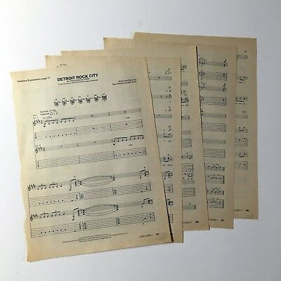 "Kiss - Tablature ""Detroit Rock City"" Clippings - Guitar Classics V"