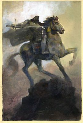Infamous Iron Man #12 Painted Variant Cover - Horseback 2017 art by Alex Maleev