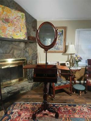 Gorgeous Antique Walnut Victorian Shaving Stand, 1880! See 24 photos! VF to NM!