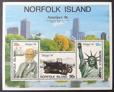1986 Norfolk Island Stamps - Ameripex '86 - Mini Sheet MNH