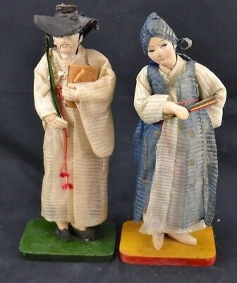 Korean Dolls - Unmarked Pair of 2