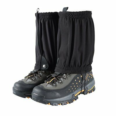 Waterproof Snow Leg Gaiters Shoes Boots Covers for Hiking Hunting Climbing Black