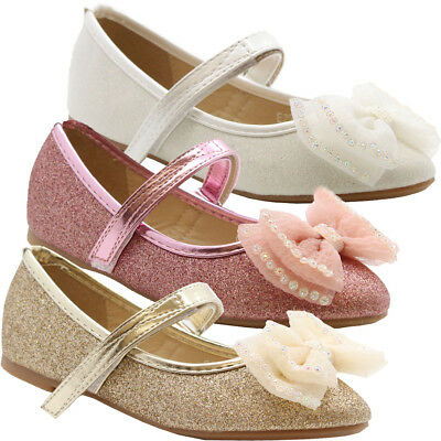 Rainbow Club Skyla Wedge Ivory Satin Kids Bridesmaid Shoes UK Size 12-5