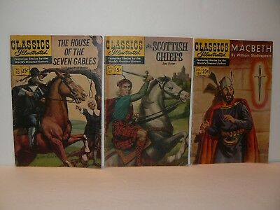 Classics Illustrated, Lot of Three very nice books