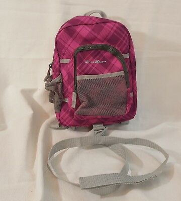 Eddie Bauer Toddler Pink Sport Backpack Harness With Strap Baby Leash Plaid