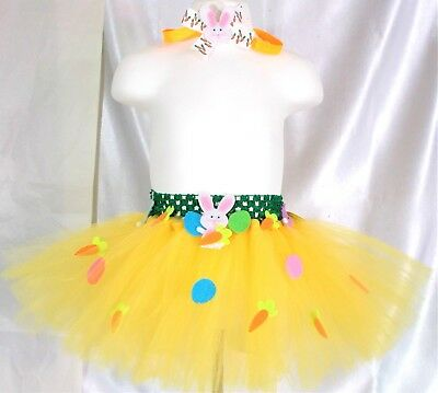Easter Tutu / Headband -Toddler,girl,child, - Fits Size 18 Mos. - 3T -Handmade