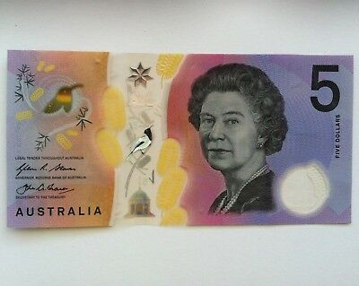 2016 $5 1St Prefix: Aa16 Next Generation Of $5 Banknote In Good Condition