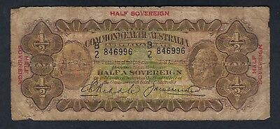 Commonwealth of Australia 1933 KGV Riddle/Heathershaw Half Sovereign Note R07