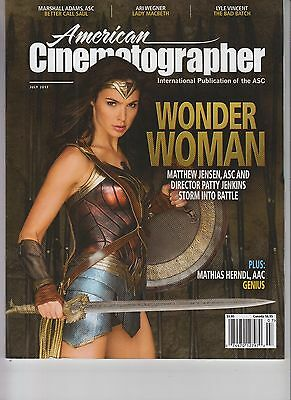 Wonder Woman American Cinematographer Magazine July 2017 Gal Gadot