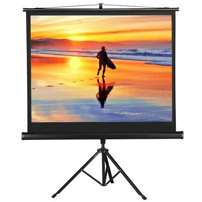Portable  Projector Movie Tripod Projection Screen Portable Pull-Up 50''- 4:3