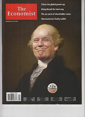 Donald Trump The Economist Magazine January 21 2017 No Label I'll Be Tremendous