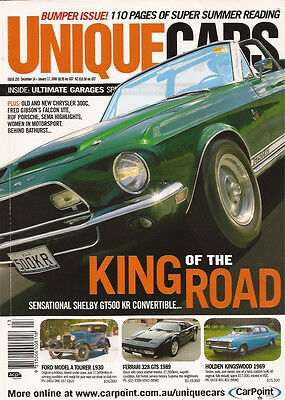 Unique Cars 255 Shelby GT500 KR Conv. Chrysler 300C Fred Gibson Falcon Ute RUF